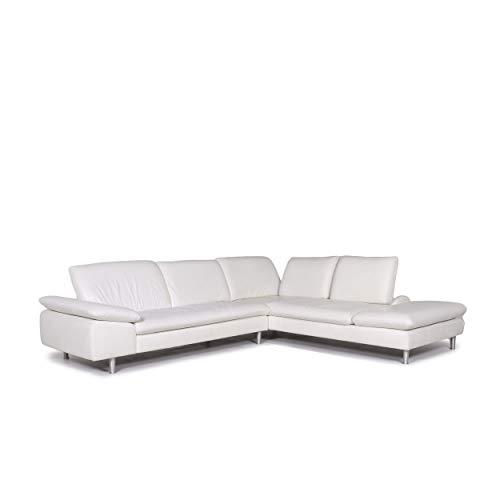 Willi Schillig leather corner sofa white sofa function couch