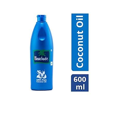 Parachute 100% Pure Coconut Hair Oil Bottle, 600ml