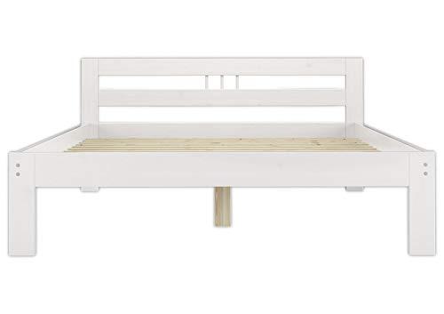 Erst-Holz Solido Elegante Letto Bianco in Pino massello Eco 120x200 con doghe rigide 60.64-12W