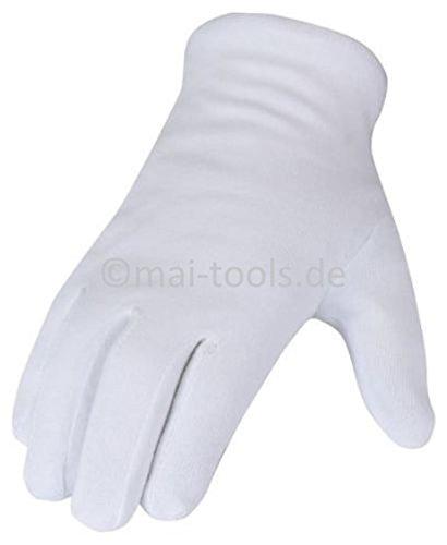 Guanti di cotone bianco (A SCELTA GR. 7(S), 8(M), 9(L), 10(XL), 11(XXL), Confezione...