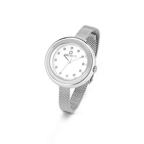 OPS!OBJECTS Bon Bon Lux, Orologio da polso Donna 34 mm, Colore Argento, OPSPW-410
