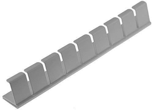 Piebert - Portabottiglie da fissare al frigorifero, 31cm.x 4,5cm.x 3,5cm. (adatto a molti frigoriferi, ad es. Bosch, Bauknecht, Siemens, Gorenje, Liebherr, Miele, Neff, LG, ecc.)