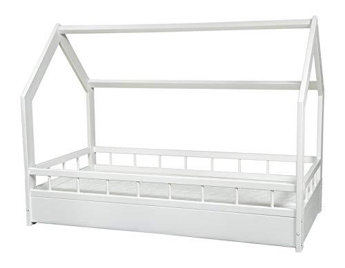 completo letto&casa+materasso ECO,stile scandinavo,bambino 160x80cm+sponde (colore del letto:...