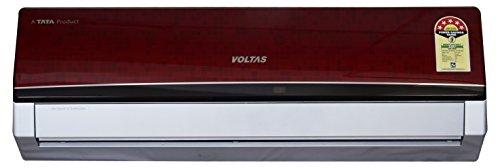 Voltas 1.5 Ton 5 Star Split AC (Aluminium, 185 EYR, Wine Red)