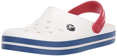 Crocs Crocband U, Zoccoli Unisex - Adulto, Bianco (White/Blue Jean), 38/39 EU