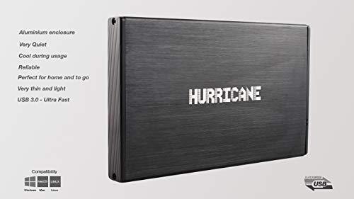 Hurricane 9.5mm GD25612 250GB 2.5' USB 3.0 Externe Aluminium Festplatte für Mac, PC, PS4, PS4 Pro,...