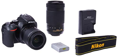 Nikon D5600 Digital SLR 18-55 mm f/3.5-5.6 G VR and AF-P DX NIKKOR 70-300 mm f/4.5-6.3 G ED (Black)