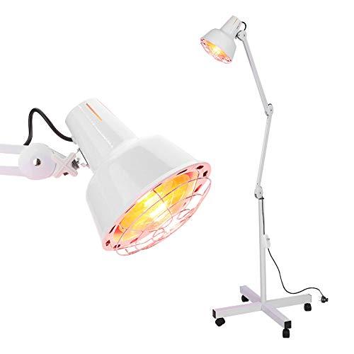 Lámpara Infrarrojos Masajem para Termoterapia Lámpara con Infrarrojos Ideal para Salón de Belleza y Hospital, Aliviar el Dolor, Reumatismo en la Cintura(con Ruedas)