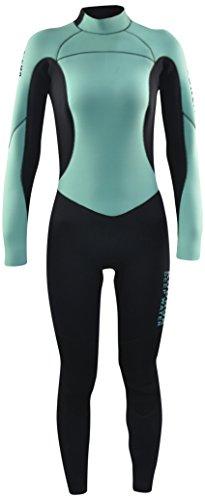 Kounga Dw 4.3 Traje para Surf y Buceo, Mujer, Azul Claro/Negro, M