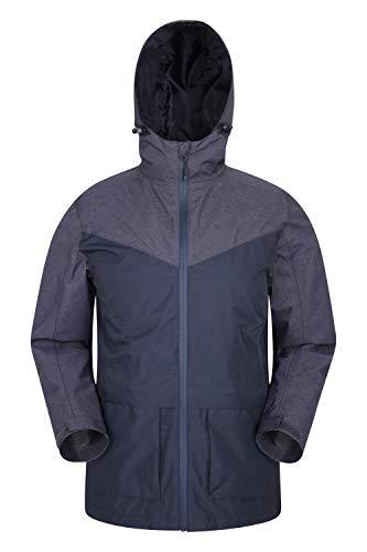 Mountain Warehouse Altitude, Impermeabile da Uomo - con Cuciture Nastrate, Tasche Frontali e vestibilità Regolabile - per Estate, Trekking e Viaggi Blu Navy XX-Large