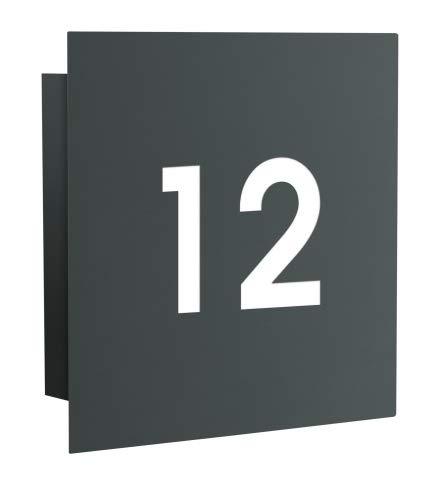 Frabox Design Hausnummernleuchte NAMUR, mit Dämmerungsschalter