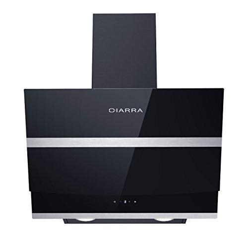 Ciarra, Cappa aspirante 60 cm, 750 m³ / h,cappa da cucina in acciaio inox con prolunga camino e...