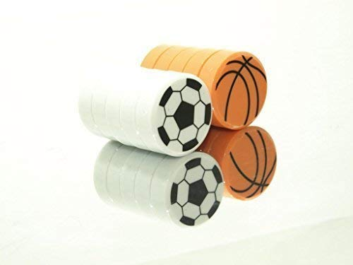 20 Mix robusto CONVENIENTI 10-pc NUOVI calamite-pallacanestro + 10-pc NUOVI CALCIO magnete per...