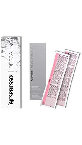 Nespresso Descaler 3035/CBU-2 per Essenza, Lattissima, Cube, Citiz, Pixie - Due kits per la...