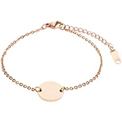 Happiness Boutique Damen Kreis Armband Minimalist | Rosegold Armband Geometrisches Design