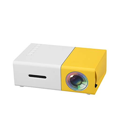 ZUEN Mini proiettore LED LCD 400-600LM 1080P Video 320 X 240 Pixel Best Home Proyector Giallo