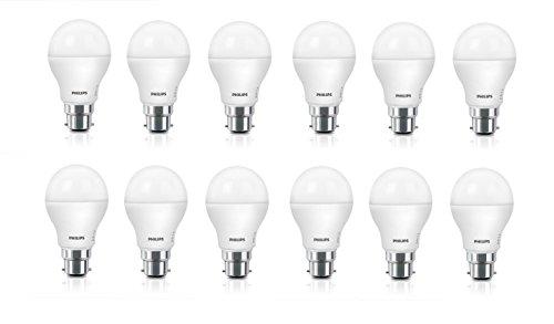 Philips Base B22 9-Watt LED Bulb (Pack of 12, Cool Day Light)