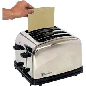 5x riutilizzabile tostapane sacchetti toast Maker piccolo elettrodomestico da cucina cibo...