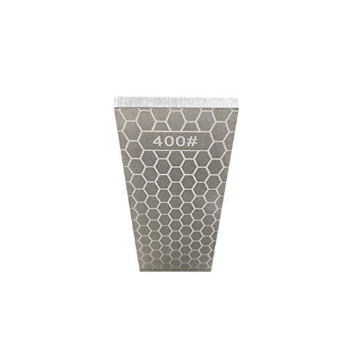 HOCOVER Piedra Afiladora de Cocina de Doble Cara de Diamante, Granos 400/1000, Herramientas de Afilado Piedra de Afilar