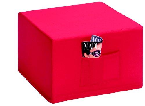Badenia 03610114502 Pouf letto Madrid con rivestimento rosso, 6 pezzi, colore blu scuro