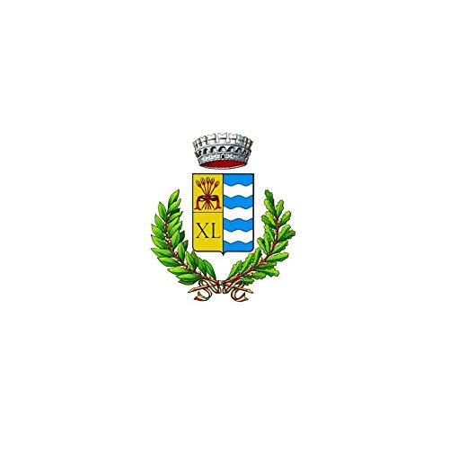 AL PRODUCTION Comune di Carema Mis. 70x100 Bandiera in Tessuto Nautico Confezionata con Corda E Guaina