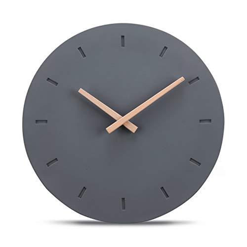 Cander Berlin MNU 6130 - Orologio da Parete di Design, in Cemento, con meccanismo Silenzioso, Ø 30,5 cm, Senza ticchettio