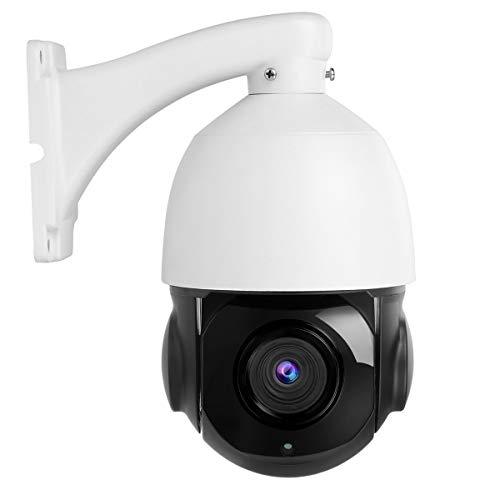 Telecamera IP PTZ da 2 MP (1920X1080) Zoom ottico 20X da esterno 1080P, Telecamera dome con visione notturna IR Indoor/Outdoor IP67 Impermeabile (NON PoE)