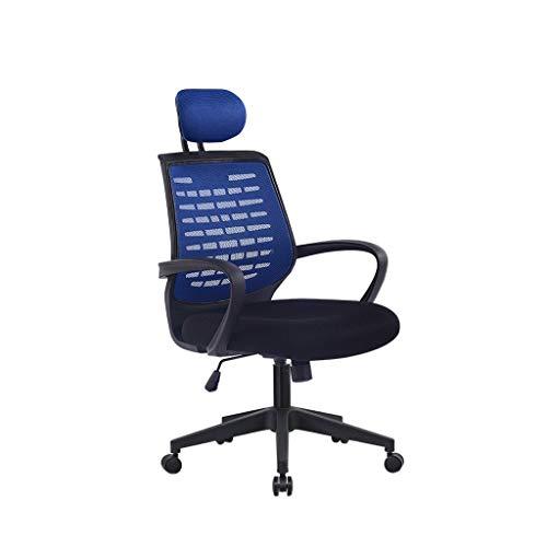XSDA Poltrona Odontoiatrica Sedia da Ufficio Sedia Sgabello Sedia del Salone Sedia Girevole con Ruote Sedia Ergonomica Multifunzionale con Schienale 3 Colori di Selezione (Color : Blue)