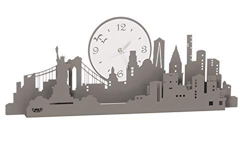 ARTI E MESTIERI New York Orologio da Parete Ardesia Bianco Marmo