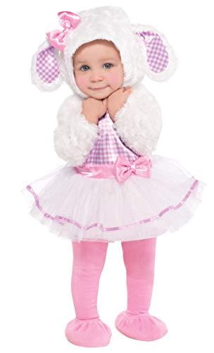 Christy's - Costume per travestimento da Agnellino, Bambini, 76-82 cm, 6-12 mesi