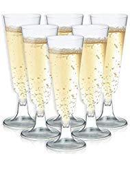 Flute da Champagne-50-count plastica occhiali, Toasting flute set, trasparente bicchieri per...