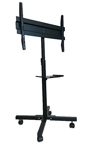 Smart Shelter LED / LCD TV Full Motion Floor Mount, Large(Quadrapod Floor stand with 1 tray, Black)