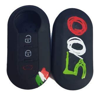 Tech11 FIAT - Protezione in silicone per telecomando chiave FIAT - FIAT 500 - PANDA (DAL 2012) -...