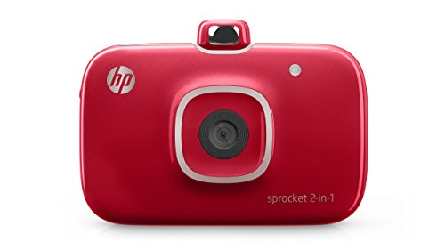 HP Sprocket 2-in-1 Portable Photo Printer and Instant Camera (Red)