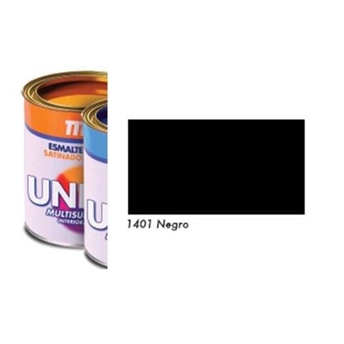 Titan M3528 - Esmalte al agua unilak satinado negro 350 ml