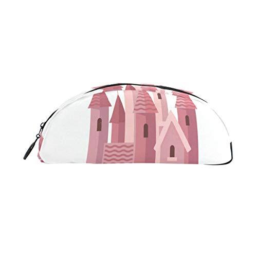 Borse per penne Pink Princess Queen Castle Borsa per penna Organizer Astuccio per astuccio Astuccio...