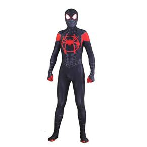 SPIDERMANHTT Spiderman Cosplay Adulto Halloween Black Spider Impresión 3D Spandex Lycra ( Color : Photo Color , Size : M )