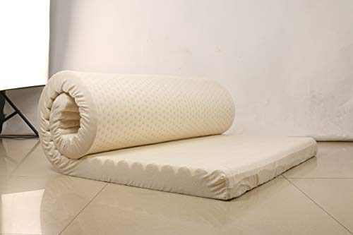 PURESLEEP Natural Latex Foam Mattress - Soft (78X30X3 in)