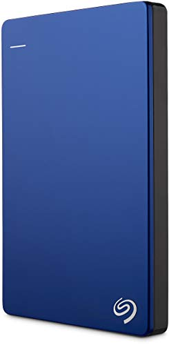 Seagate 2TB Backup Plus Slim (Blue) USB 3.0 External Hard Drive for PC/Mac with 2 Months Free Adobe Photography Plan