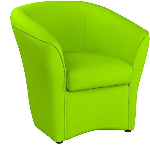 Totò Piccinni Poltrona a POZZETTO in Ecopelle Design | Alta QUALITA' | Made in Italy (Verde)