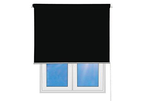 Sunce24  Verdunkelungsrollo Lichtundurchlässig Thermo Sichtschutz Rollo 140 x 200 cm, schwarz