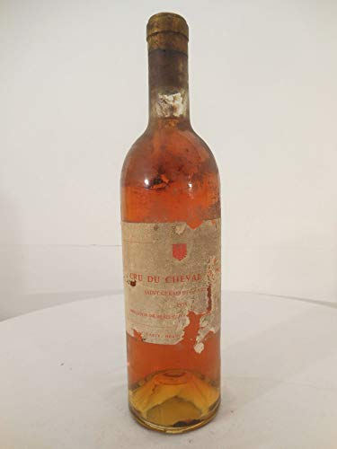 premières côtes de bordeaux cru du cheval blanc blanc 1955 Une bouteille de vin france bordeaux