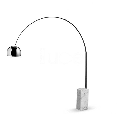 Flos Arco lampada da terra design Castiglioni 1962 base marmo 70W