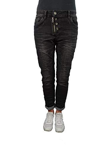 Karostar Baggy Boyfriend Damen Stretch Hose Jeans offene Knopfleiste...