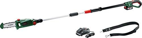 Bosch UniversalChainPole 18 - Sierra de cadena telescópica (1 batería 18V 2.5Ah, cargador, Power4All 18V)