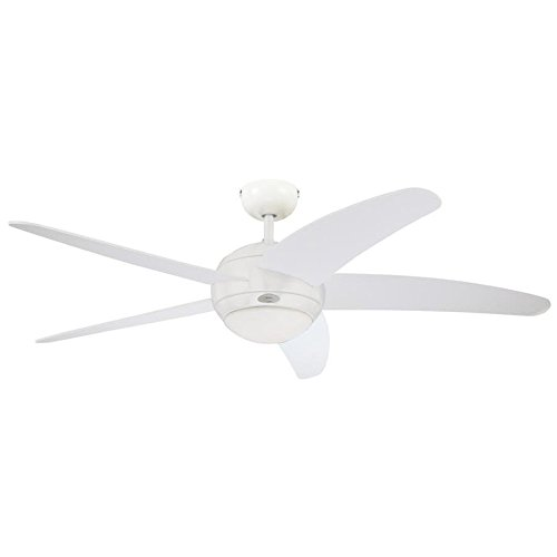Westinghouse Ventilatore a Soffitto Bendan R7s, 80 W, Finitura, Pale in Bianco