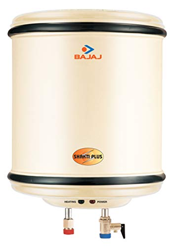 Bajaj Shakti Plus Storage 15 LTR Vertical Water Heater, Ivory, 4 Star