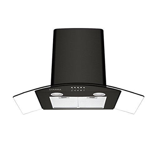 Ciarra, cappa aspirante per cucine, curva, 90 cm, colore nero, in ...