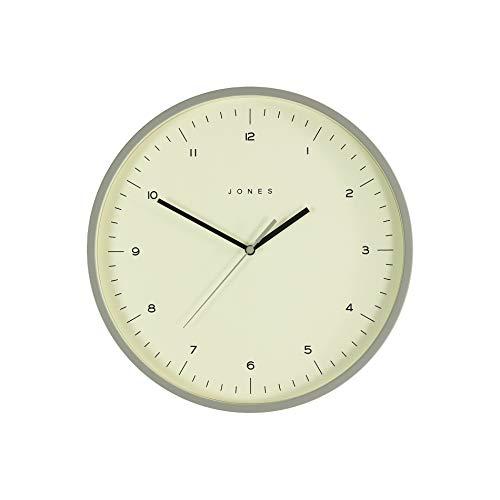 JONES CLOCKS Spartacus, Orologio da Parete dal Design Moderno e Minimalista in Grigio per la casa o...