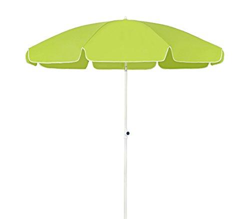 Dehner Gute Wahl Sonnenschirm Saturn, Ø 200 cm, Höhe 180 cm, Polyester, grün